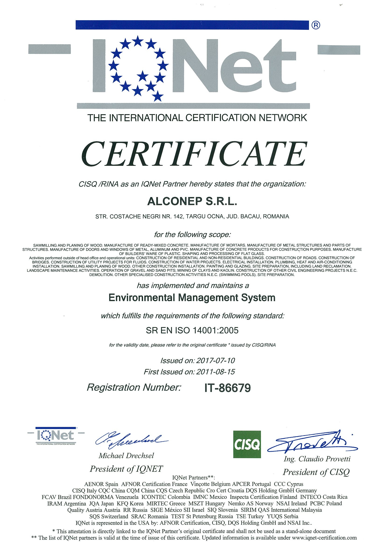 IQNET 14001-0001