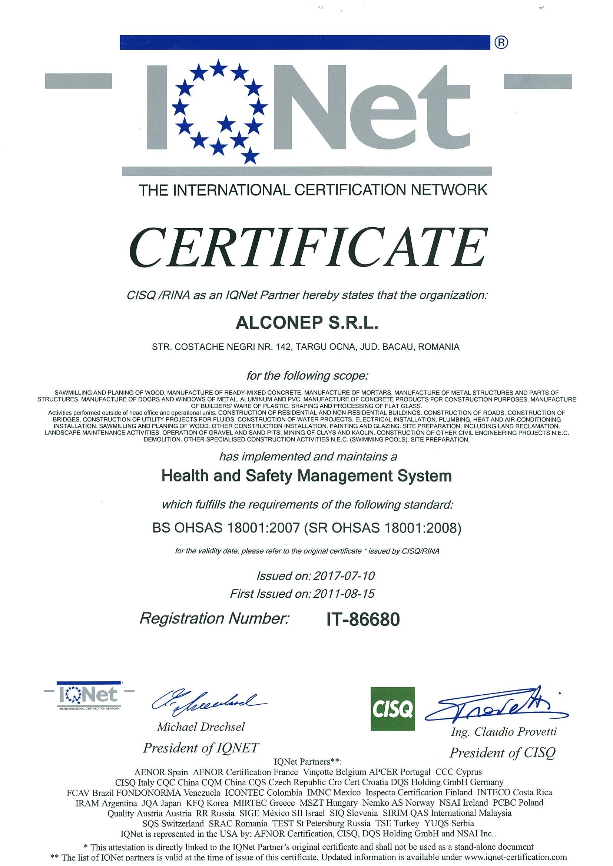 IQNET OHSAS-0001