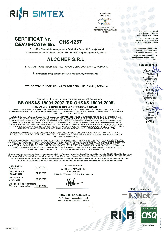 OHSAS-2019-0001